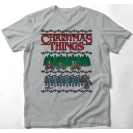 Stranger Things férfi rövid ujjú póló - Christmas Things