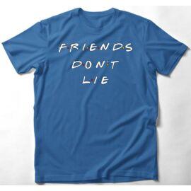 Azúrkék Stranger Things gyerek rövid ujjú póló - Friends Don't Lie