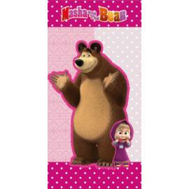 Mása a medve törölköző, fürdőlepedő