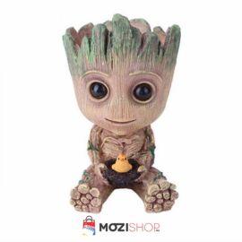 Baby Groot virágcserép, toll és ceruzatartó figura