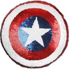 Amerika Kapitány pajzs párna, formapárna átfordítható flipperes