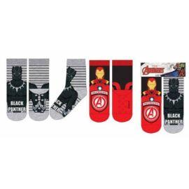 Bosszúállók gyerek zokni szett - Vastag kivitel, csúszásgátlóval - Több változatban (31-34-es méret)