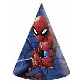 Pókember party kalap, csákó 6 db-os szett