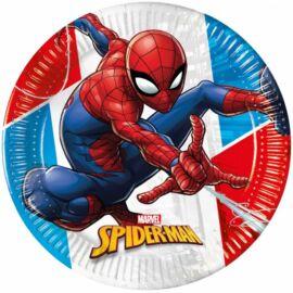 Pókember papírtányér 20 cm 8 db-os szett - Környezetbarát, komposztálható