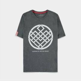 Shang-Chi férfi rövid ujjú póló - Crest