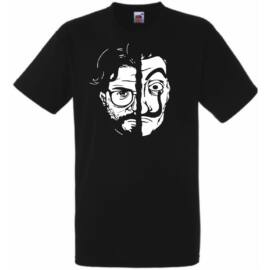Fekete A nagy pénzrablás férfi rövid ujjú póló - A Professzor