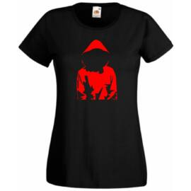 Fekete A nagy pénzrablás női rövid ujjú póló