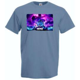 Acélkék Gamer Fan Heroes Nexus War férfi rövid ujjú póló