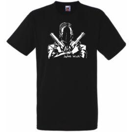 Fekete John Wick férfi rövid ujjú póló