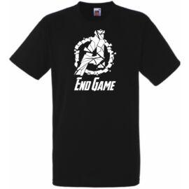 Fekete Funny EndGame - Végjáték férfi rövid ujjú póló