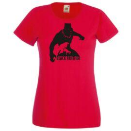 Piros Fekete Párduc női póló
