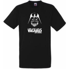 Fekete Vader Beard férfi rövid ujjú póló