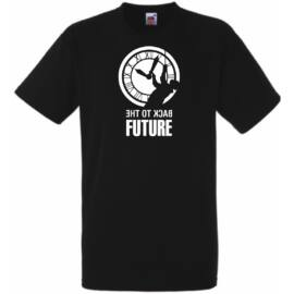 Fekete Vissza a jövőbe férfi rövid ujjú póló
