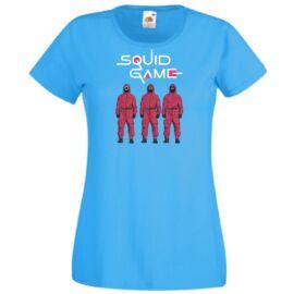 Azúrkék Nyerd meg az életed női rövid ujjú póló - Squid Game Eternal