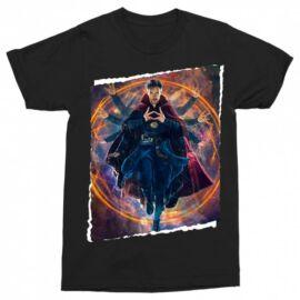 Doctor Strange férfi rövid ujjú póló fekete színben