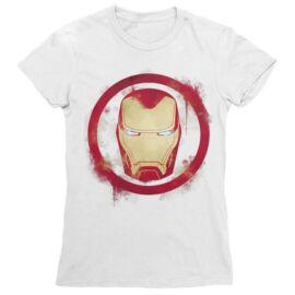 Marvel Vasember női rövid ujjú póló - Logó fehér színben