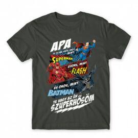 Apa, Te vagy az én szuperhősöm - DC Comics hősök - férfi rövid ujjú póló