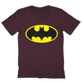 Batman férfi V-nyakú póló - Logó