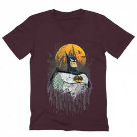 Batman férfi V-nyakú póló - Batman Comic Grunge