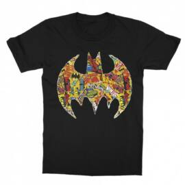 Batman gyerek rövid ujjú póló - Batman Comics Logó