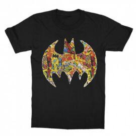 Fekete Batman gyerek rövid ujjú póló - Batman Comics Logó
