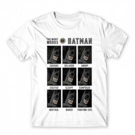 Fehér Batman férfi rövid ujjú póló - Batman moods