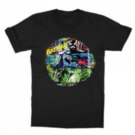 Fekete Batman gyerek rövid ujjú póló - Batman Circle