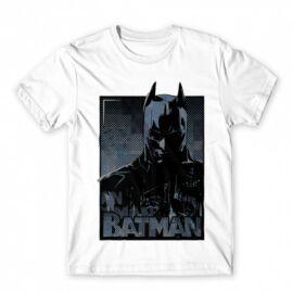 Fehér Batman férfi rövid ujjú póló - Batman Comics