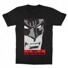 Fekete Batman gyerek rövid ujjú póló - Pszt! Én vagyok Batman