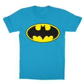 Atollkék Batman gyerek rövid ujjú póló - Logó