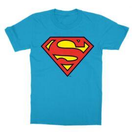 Atollkék Superman - gyerek rövid ujjú póló - Classic Logó