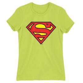 Almazöld Superman - női rövid ujjú póló - Classic Logó