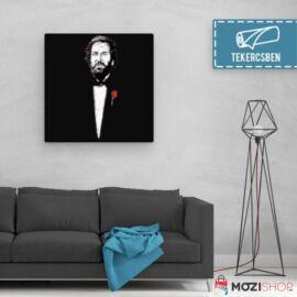 100 cm X 100 cm-es bordó Bud Spencer vászonkép - A Keresztapa - Feltekercselt