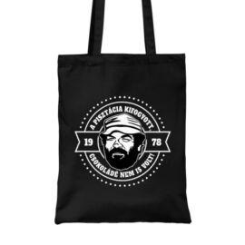 Fekete Bud Spencer vászontáska - A pisztácia kifogyott