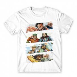 Fehér Bud Spencer gyerek rövid ujjú póló - Bud and Terence posters