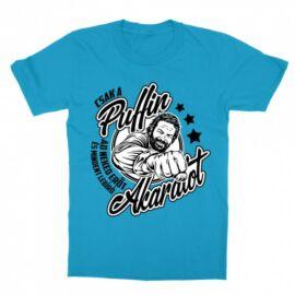 Atollkék Bud Spencer gyerek rövid ujjú póló - Csak a Puffin