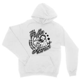 Fehér Bud Spencer unisex kapucnis pulóver - Csak a Puffin