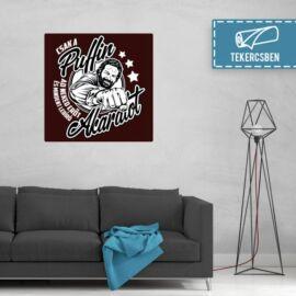 100 cm X 100 cm-es bordó Bud Spencer vászonkép - Csak a Puffin - Feltekercselt