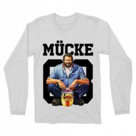 Fehér Bud Spencer férfi hosszú ujjú póló - Mücke