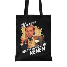 Fekete Leonardo DiCaprio mém vászontáska - Mikor megkérdezik...