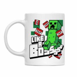 Minecraft bögre - Like a Boss Creeper