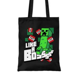 Minecraft vászontáska - Like a Boss Creeper