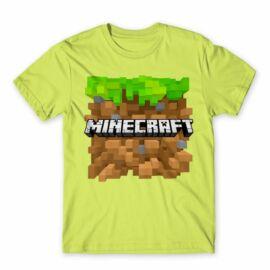 Minecraft férfi rövid ujjú póló - Minecraft land