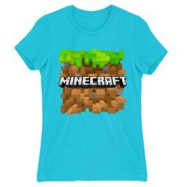 Minecraft női rövid ujjú póló - Minecraft land
