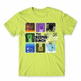 Minecraft férfi rövid ujjú póló - The Creeper Bunch