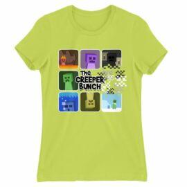 Minecraft női rövid ujjú póló - The Creeper Bunch