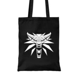 Fekete The Witcher vászontáska - Wolf head logo