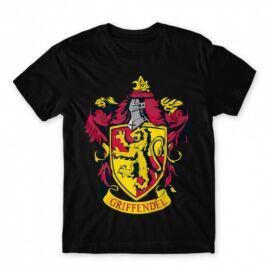 Fekete Harry Potter férfi rövid ujjú póló - Griffendél Logo