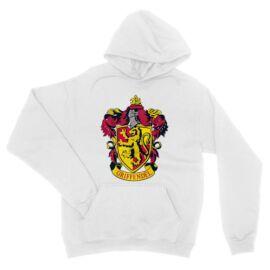Fehér vHarry Potter unisex kapucnis pulóver - Griffendél logó