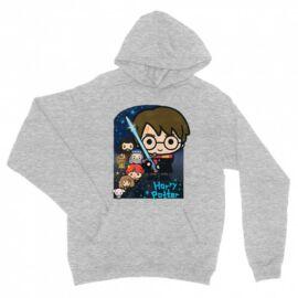 Sportszürke Harry Potter unisex kapucnis pulóver - Harry Potter chibi poster